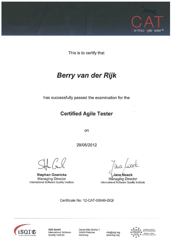 Certified Agile Tester